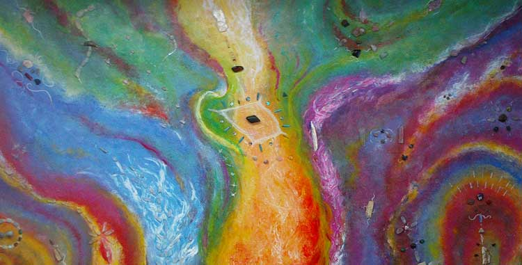 Crystal Infused Spiritual art titled: Universal Unity by Pete Taboada