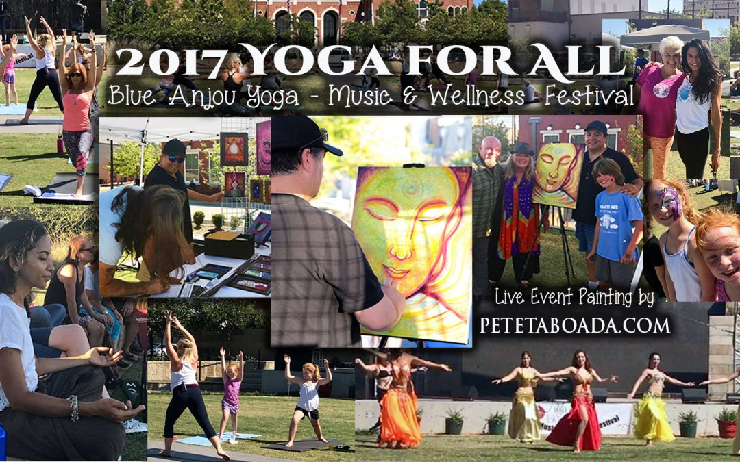 Painted Buddha At The Yoga for All – Yoga Festival