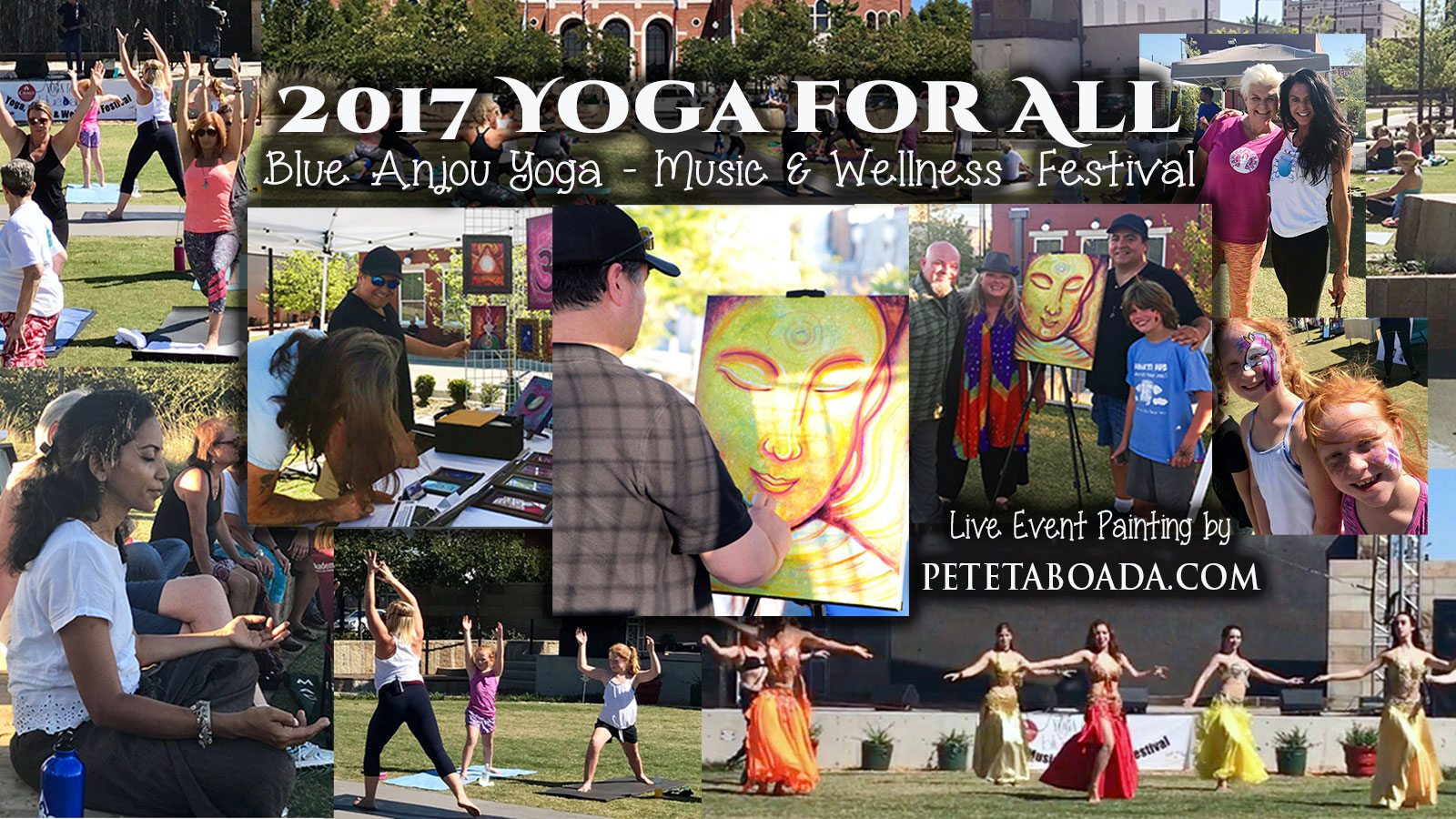 Live Event Painting Buddha At The Yoga for All - Yoga Festival