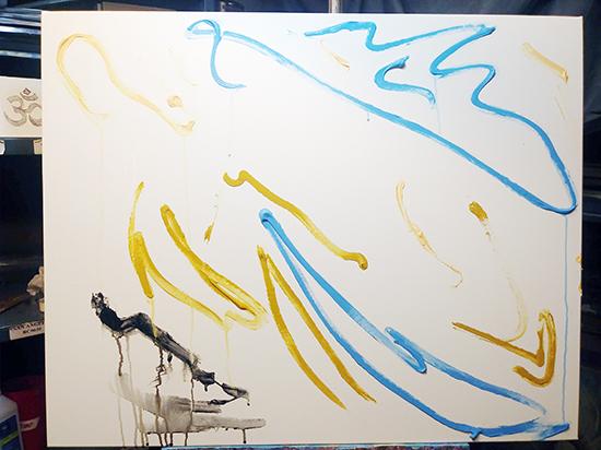 Creative Art Process Day 1 Cosmic Yogi Festival-1