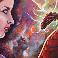 Creative Art Process – Cosmic Yogi Festival 5 – Final Artwork – The Gift Of A Dragon